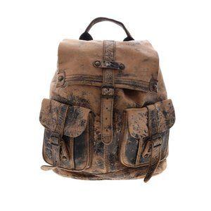 Bed Stu Distressed Leather Backpack Bag